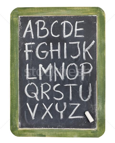 alphabet in chalk on blackboard Stock photo © PixelsAway