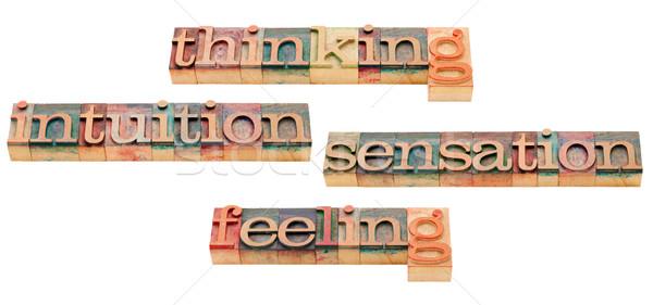 思考 直感 4 性格 ストックフォト © PixelsAway