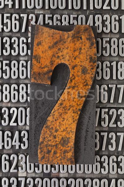 Nombre sept résumé vintage bois Photo stock © PixelsAway