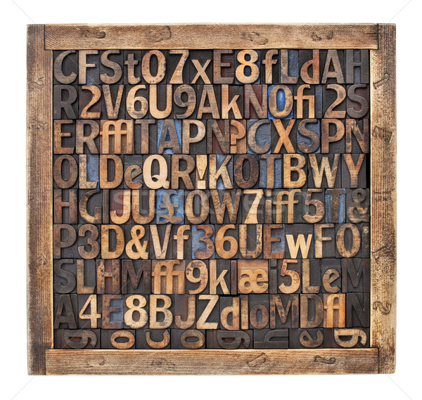Vintage bois type impression blocs lettres Photo stock © PixelsAway