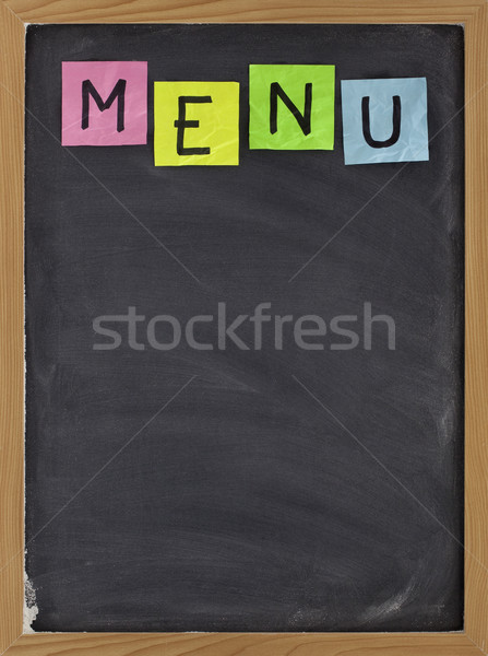 blank blackboard menu Stock photo © PixelsAway
