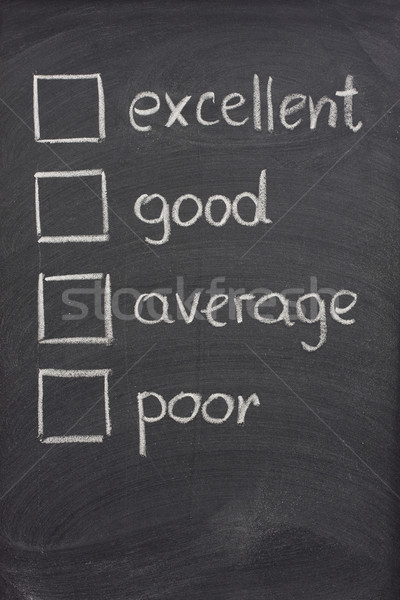 customer survey or poll with check boxes on blackboard Stock photo © PixelsAway