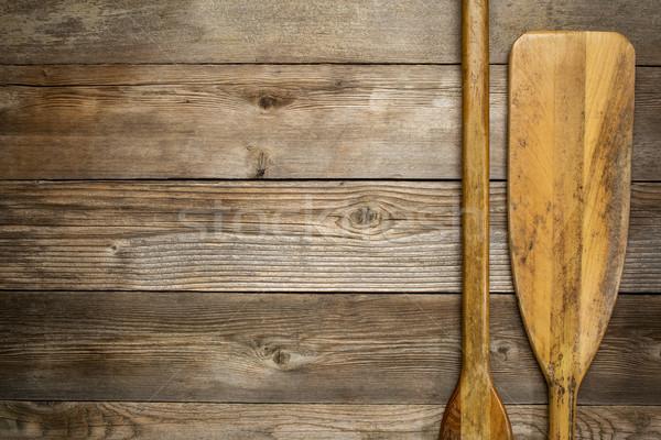 Bois canot résumé lame rustique Photo stock © PixelsAway