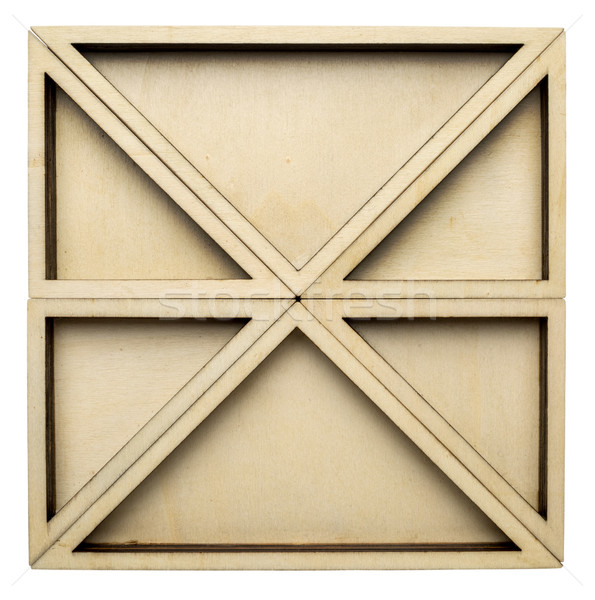 Zestaw topola sklejka drewna placu Zdjęcia stock © PixelsAway