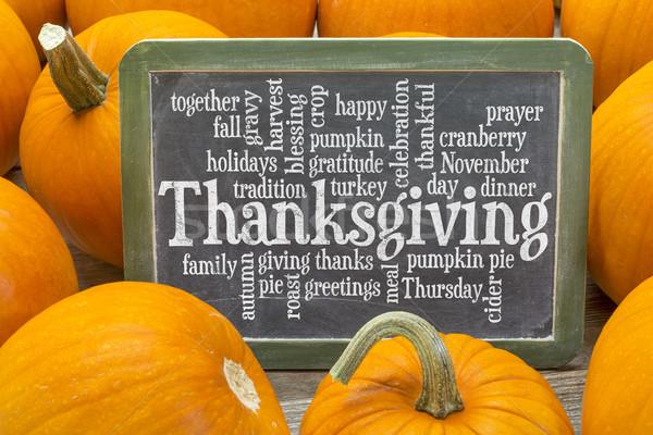 Thanksgiving celebration word cloud Stock photo © PixelsAway