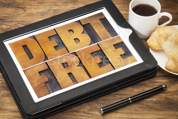debt free concept Stock photo © PixelsAway