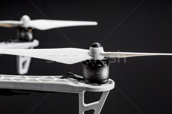 Pervane soyut teknoloji siyah beyaz elektrik Stok fotoğraf © PixelsAway