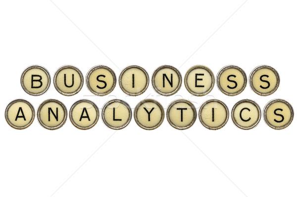ビジネス 分析論 文字 古い タイプライター キー ストックフォト © PixelsAway