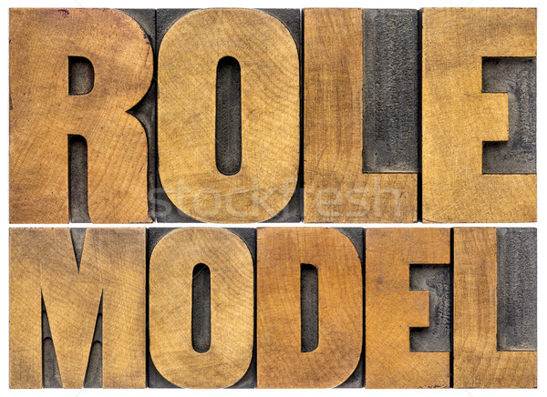 role model typography Stock photo © PixelsAway