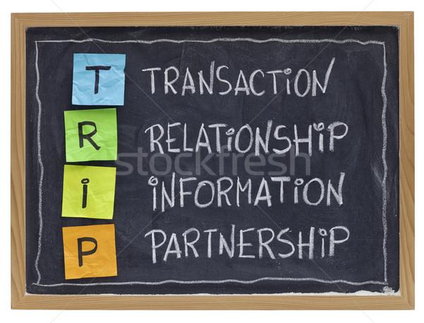Relación comercial exitoso cliente proveedor cooperación Foto stock © PixelsAway