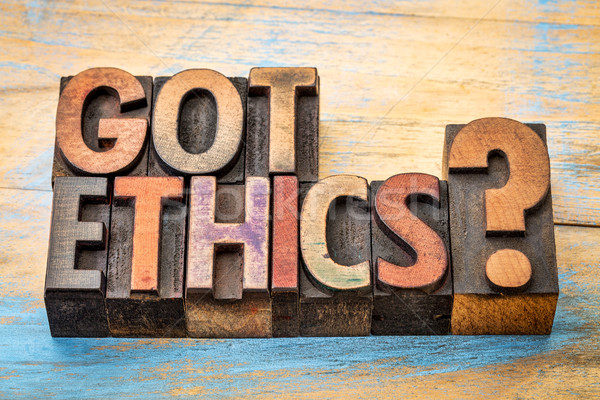 Got ethics question in wood type Stock photo © PixelsAway