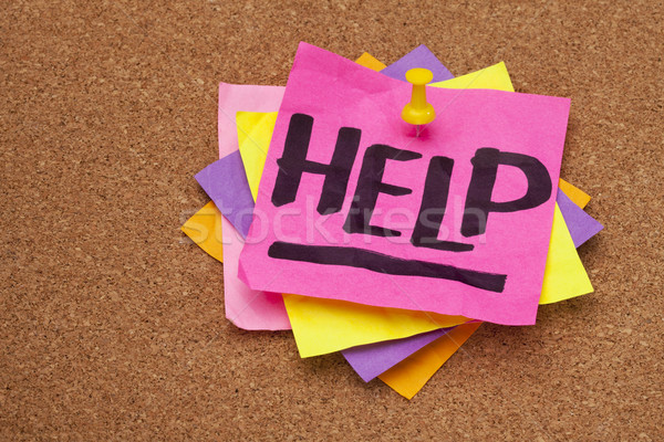 help posted on bulleting board Stock photo © PixelsAway