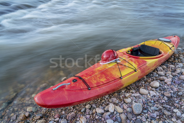whitewater kayak with helmet Stock photo © PixelsAway