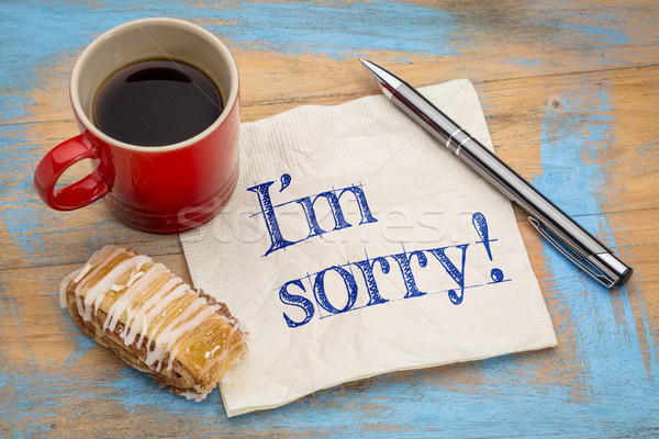 I am sorry on napkin Stock photo © PixelsAway