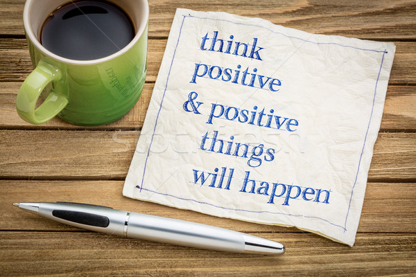 Think positive and things will happen Stock photo © PixelsAway