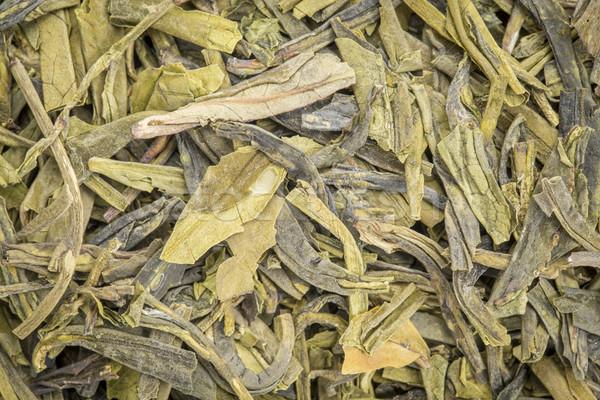 зеленый чай текстуру фона свободный лист текстуры китайский Сток-фото © PixelsAway