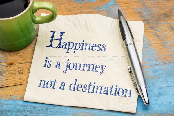 幸福 旅 しない 先 手書き ナプキン ストックフォト © PixelsAway