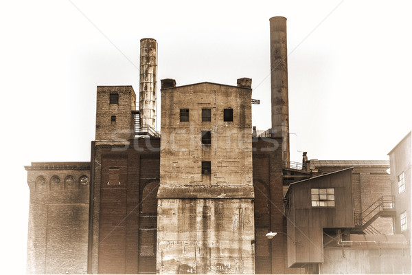 old power plant building in sepia toning Stock photo © PixelsAway