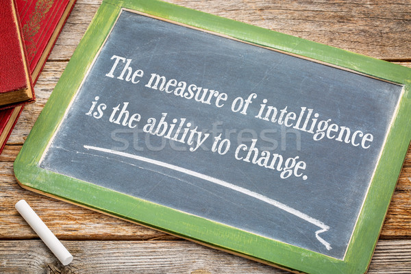 The measure of intelligence is the ability to change Stock photo © PixelsAway