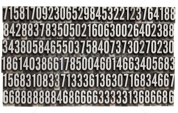 Rasgele sayılar Metal tip bağbozumu Stok fotoğraf © PixelsAway