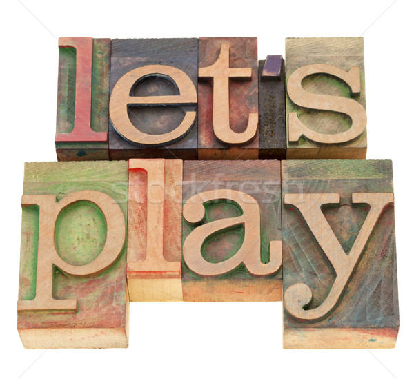 Spelen type geïsoleerd woorden vintage Stockfoto © PixelsAway