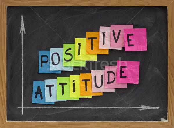 Foto stock: Actitud · positiva · colorido · notas · adhesivas · escritura · blanco
