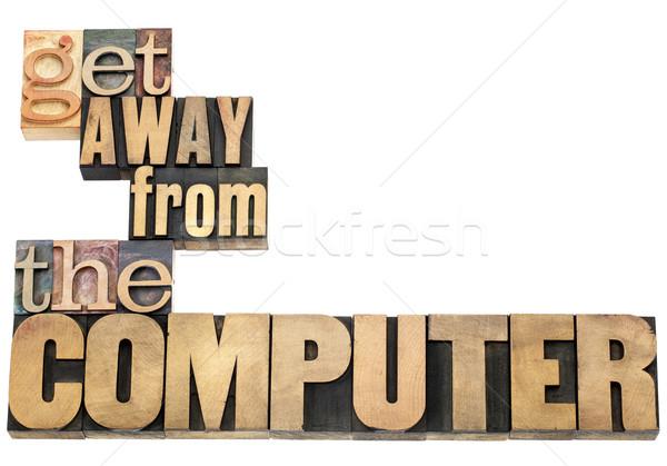 Via computer internet dipendenza lavoro sovraccarico Foto d'archivio © PixelsAway