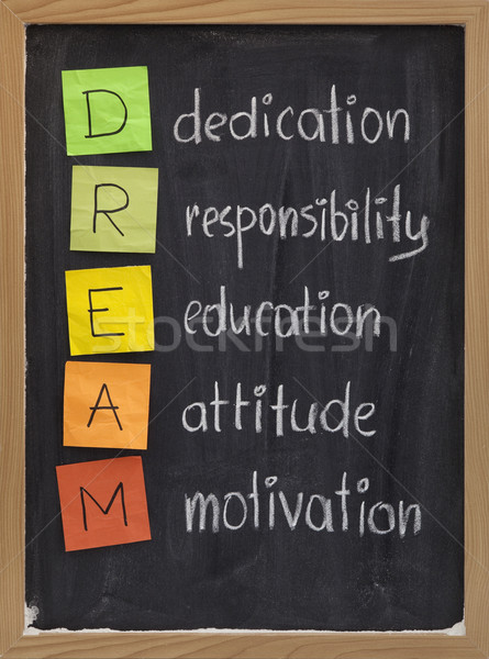 dedication responsibility education attitude motivation Stock photo © PixelsAway