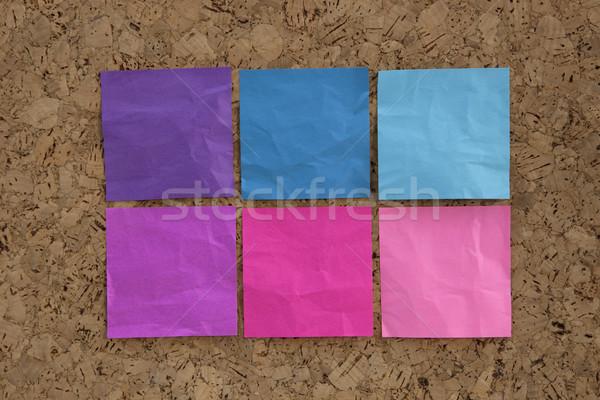Kék rózsaszín magenta emlékeztető jegyzetek hat Stock fotó © PixelsAway