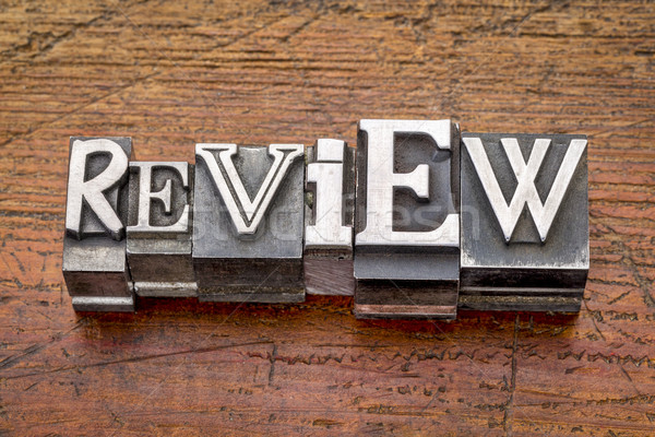 review word in metal type  Stock photo © PixelsAway