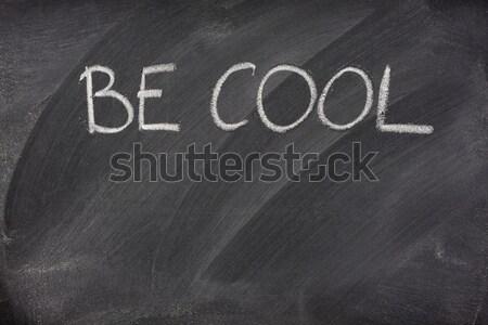Détresse signal sos école tableau noir Photo stock © PixelsAway