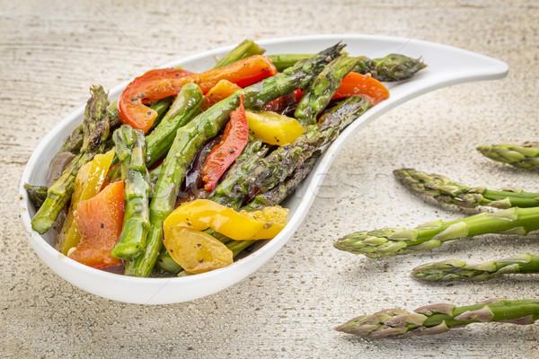 roasted asparagus salad Stock photo © PixelsAway
