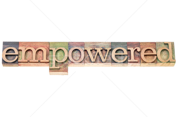 empowered word typography Stock photo © PixelsAway