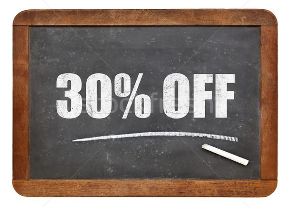 Trente pour cent réduction tableau noir signe Photo stock © PixelsAway
