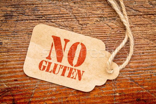 No gluten papel precio etiqueta signo Foto stock © PixelsAway
