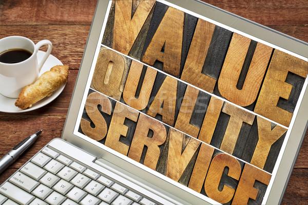 érték minőség szolgáltatás tipográfia üzlet mantra Stock fotó © PixelsAway
