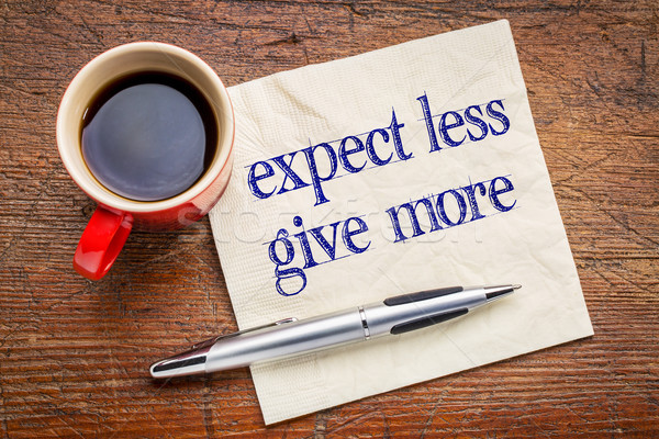 Moins donner plus conseil motivation amélioration Photo stock © PixelsAway