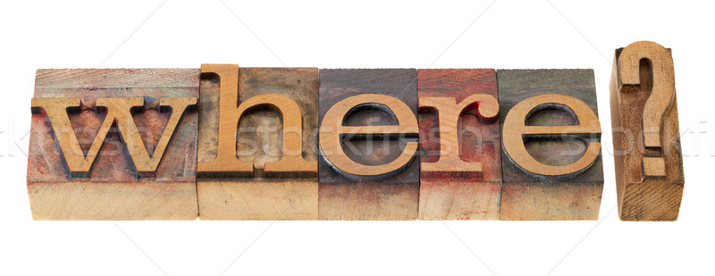 where question in letterpress type Stock photo © PixelsAway
