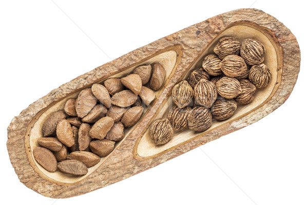 Brazilian nuts and black walnuts  Stock photo © PixelsAway