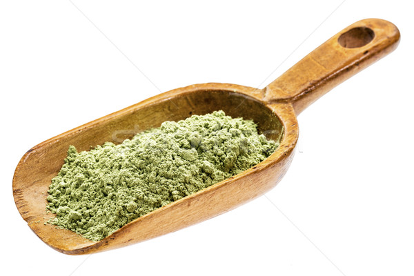 Organiczny jęczmień trawy proszek rustykalny Zdjęcia stock © PixelsAway