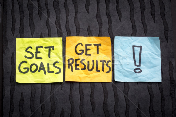 set goals, get result concept Stock photo © PixelsAway