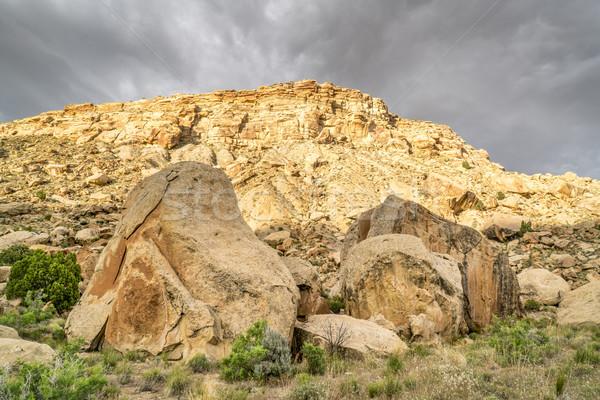 пустыне пейзаж книга восточных бурный Сток-фото © PixelsAway