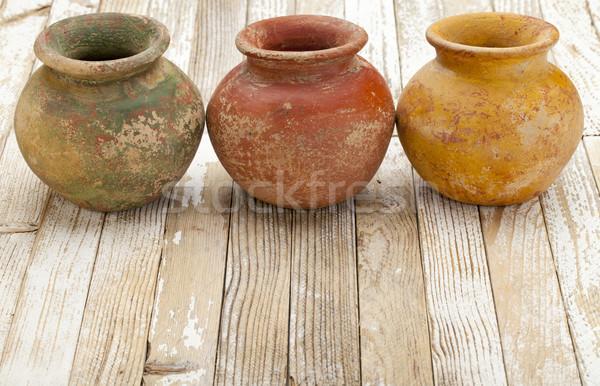 rustic clay pots Stock photo © PixelsAway