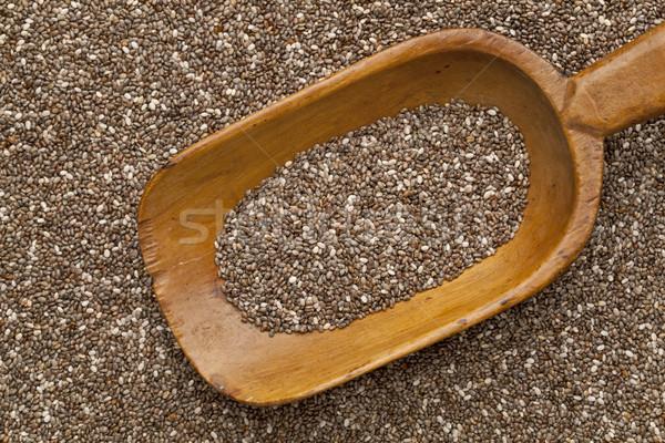 Mag merítőkanál fából készült rusztikus organikus magok Stock fotó © PixelsAway