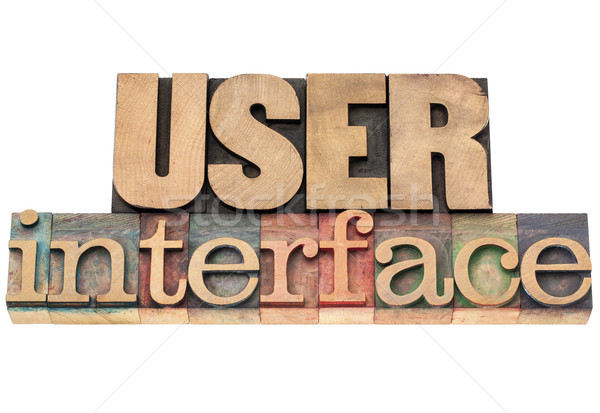 user interface in wood type Stock photo © PixelsAway