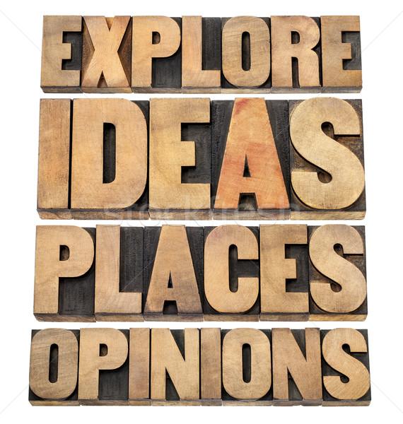 Idee motivazionale consiglio collage Foto d'archivio © PixelsAway