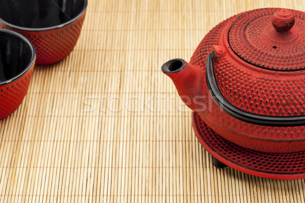 tetsubin and tea cups Stock photo © PixelsAway