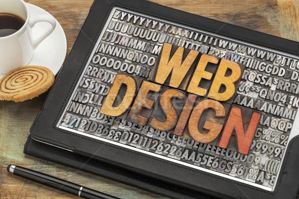web design on digital tablet Stock photo © PixelsAway