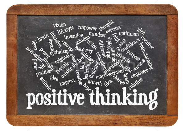 positive thinking word cloud Stock photo © PixelsAway