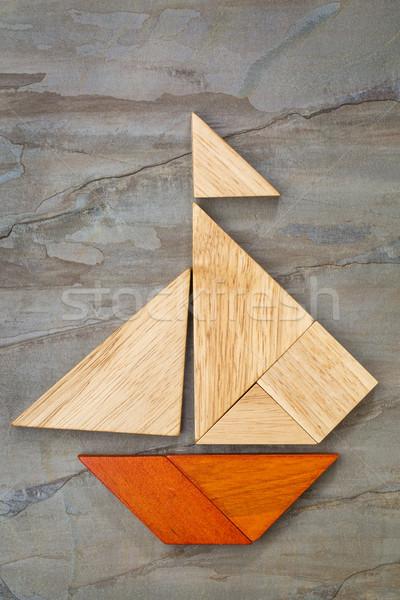 tangram sailboat abstract Stock photo © PixelsAway
